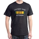 Vietnam War Veteran 2 Black T-Shirt