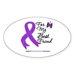 PancreaticCancer BestFriend Oval Sticker (10 pk)
