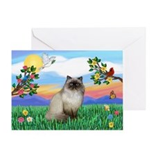 Bright Life / Himalayan Cat Greeting Card
