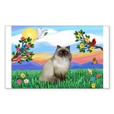 Bright Life / Himalayan Cat Rectangle Sticker 10