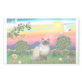 Bright Country / Himalayan Cat Rectangle Decal