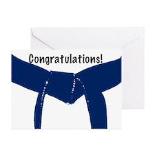 Martial Arts Congratulations Blue Belt Cards 10PK