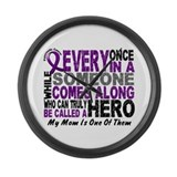 HERO Comes Along 1 Mom PC Large Wall Clock