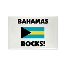 Bahamas Rocks Rectangle Magnet