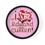 I Freakin LOVE Edward Cullen! Wall Clock
