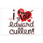 I Freakin LOVE Edward Cullen! Large Poster