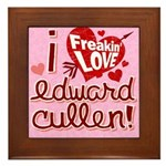 I Freakin LOVE Edward Cullen! Framed Tile