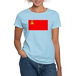 USSR Blank Flag Women's Pink T-Shirt