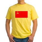 USSR Blank Flag Yellow T-Shirt