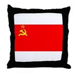 USSR Blank Flag Throw Pillow
