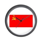 USSR Blank Flag Wall Clock