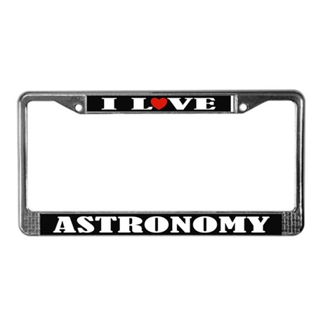I Heart Astronomy License Plate Frame