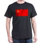 USSR Blank Flag Black T-Shirt