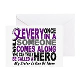 HERO Comes Along 1 Sister PC Greeting Card