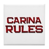 carina rules Tile Coaster