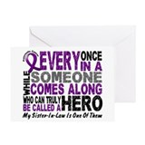 HERO Comes Along 1 Sister-In-Law PC Greeting Card