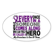 HERO Comes Along 1 Grandma PC Oval Sticker (10 pk)