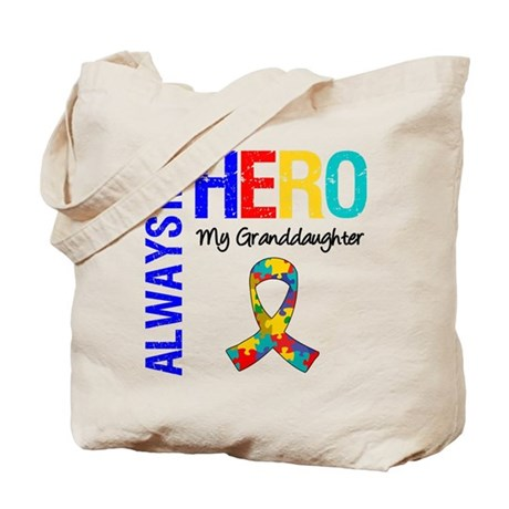 Autism Hero Granddaughter Tote Bag