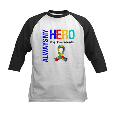 Autism Hero Granddaughter Kids Baseball Jersey