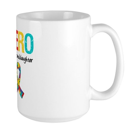 Autism Hero Granddaughter Large Mug