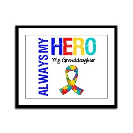 Autism Hero Granddaughter Framed Panel Print