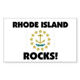 Rhode Island Rocks Rectangle Decal