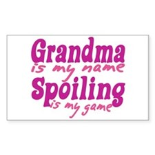 Grandma is my name Rectangle Decal