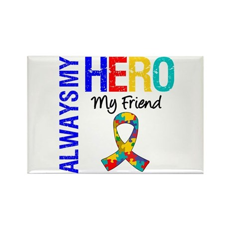 Autism Hero Friend Rectangle Magnet