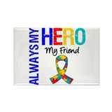 Autism Hero Friend Rectangle Magnet (10 pack)