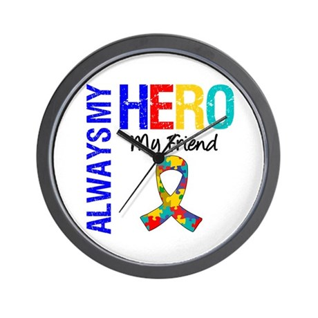 Autism Hero Friend Wall Clock