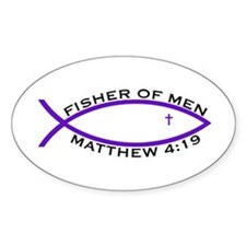 Fisher (PUR) - Oval Sticker (10 pk)