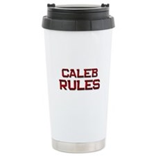 caleb rules Ceramic Travel Mug