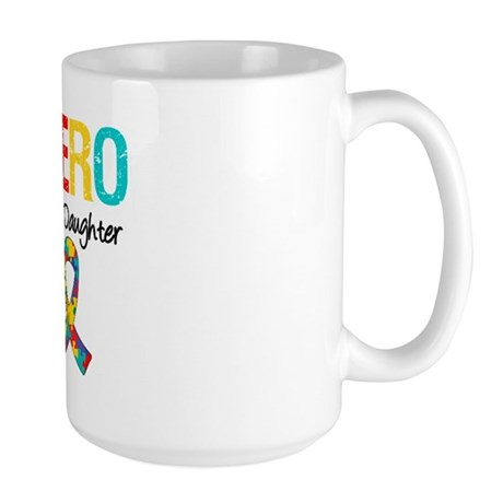 Autism Hero Daughter Large Mug