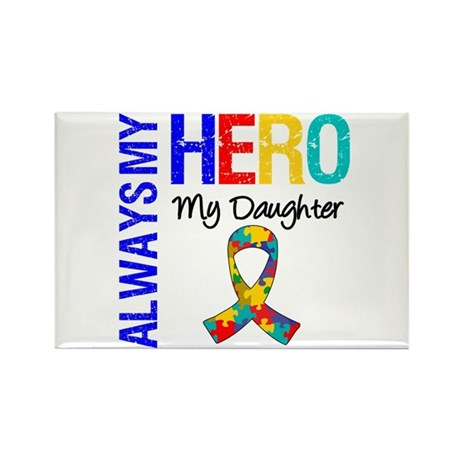 Autism Hero Daughter Rectangle Magnet