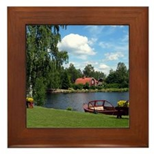Sundborn Lake Scene Framed Tile
