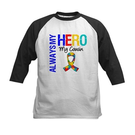 Autism Hero Cousin Kids Baseball Jersey
