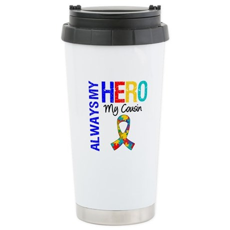 Autism Hero Cousin Ceramic Travel Mug