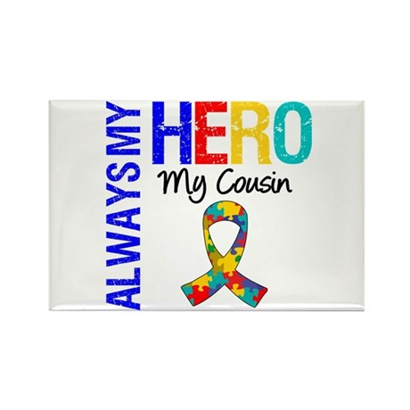 Autism Hero Cousin Rectangle Magnet