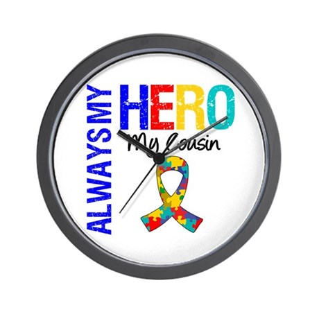 Autism Hero Cousin Wall Clock