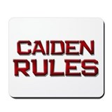 caiden rules Mousepad