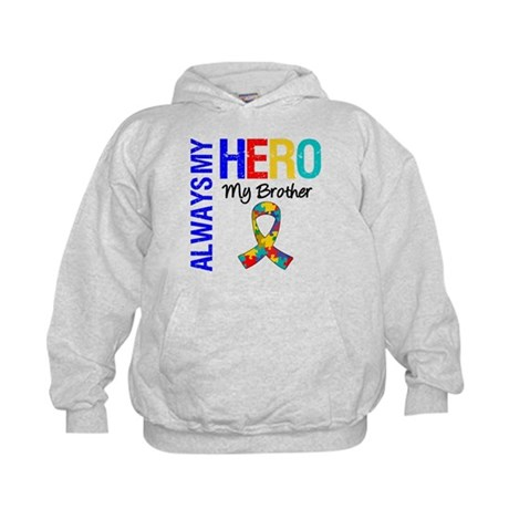 Autism Hero Brother Kids Hoodie