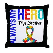Autism Hero Brother Throw Pillow