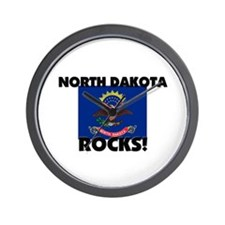 North Dakota Rocks Wall Clock