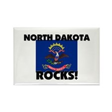 North Dakota Rocks Rectangle Magnet