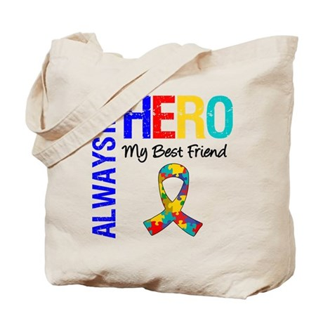 Autism Hero Best Friend Tote Bag