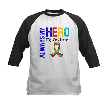Autism Hero Best Friend Kids Baseball Jersey