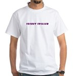 Secret Spiller Instructions White T-Shirt