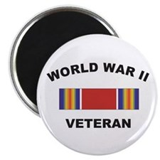 "World War II Veteran 2.25"" Magnet (10 pack)"