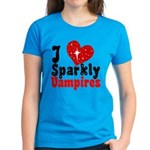 I Love Sparkly Vampires Women's Dark T-Shirt