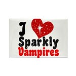 I Love Sparkly Vampires Rectangle Magnet (10 pack)
